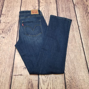 Levis Mid Rise Skinny Jeans Size 12 Dark Wash